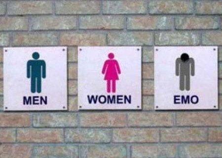 Nova plaquinha de banheiro?