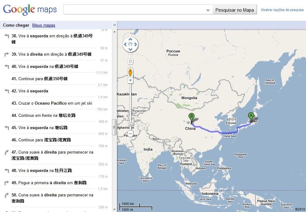 Nunca foi tão fácil sair do Japão e chegar na China!