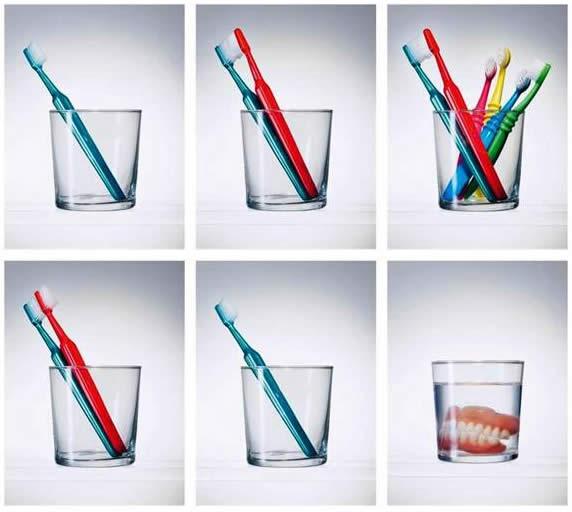 A vida de uma escova de dentes