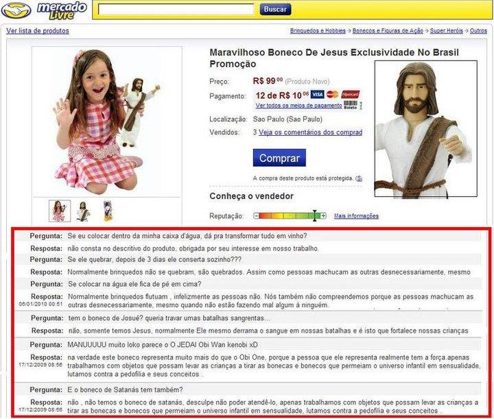 Maravilhoso boneco de Jesus
