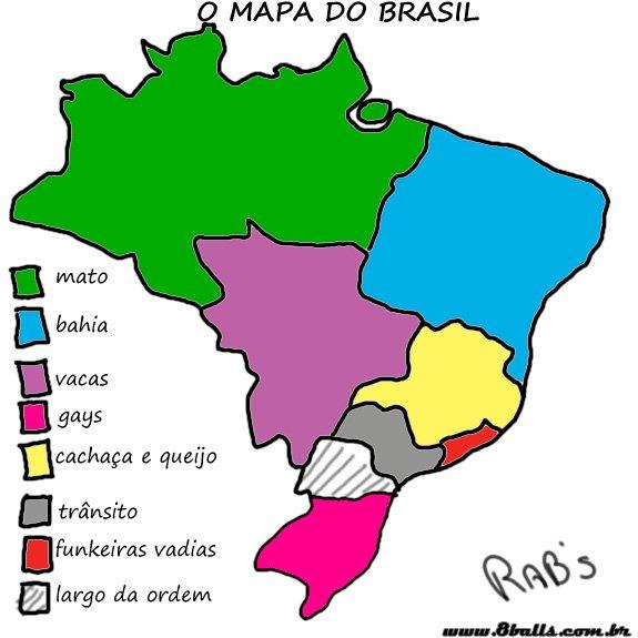 O mapa do Brasil