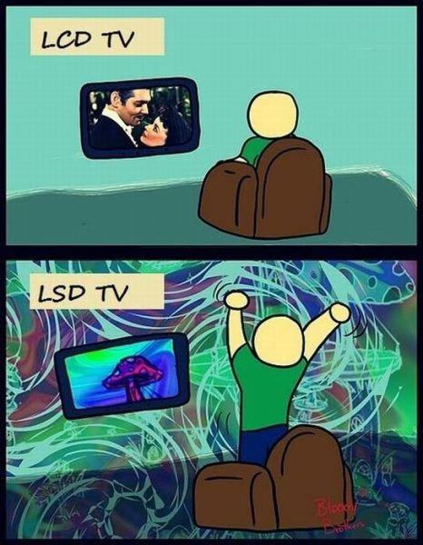 Comparações: TV LCD x TV LSD