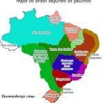 mapa do brasil segundo os gauchos