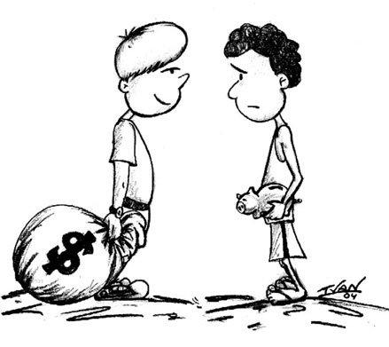 Diferenças básicas entre o rico e o pobre