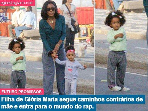Filha de Gloria Maria segue caminhos contrários de mãe e entra para o mundo do rap