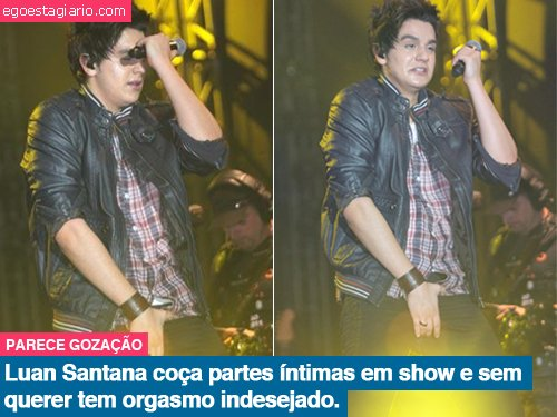Luan Santana coça partes intimas em show e sem querer tem orgasmo indesejado