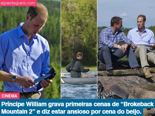 Principe William grava primeiras cenas de