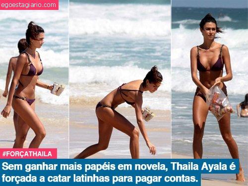 Sem ganhar papeis em novela, Thaila Ayala é forçada a catar latinhas pra pagar as contas