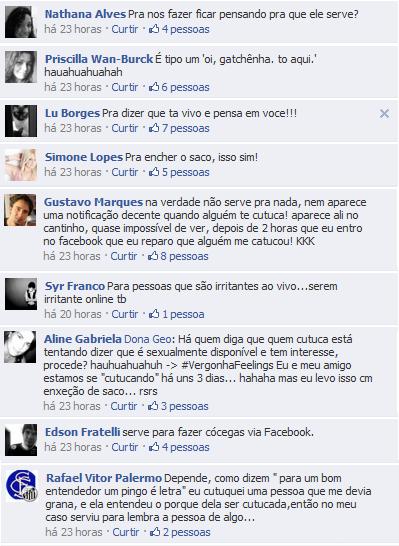 Por que cutucar no facebook