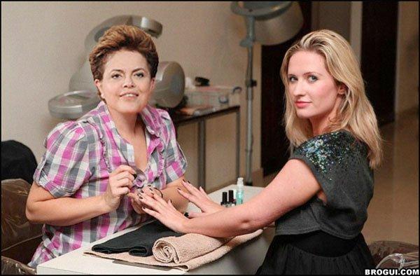Dilma tem cara de manicure