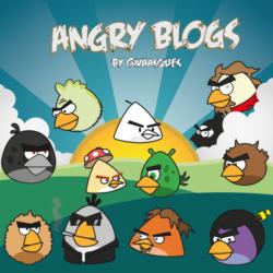 Blogs na versão Angry Birds por @vaasques