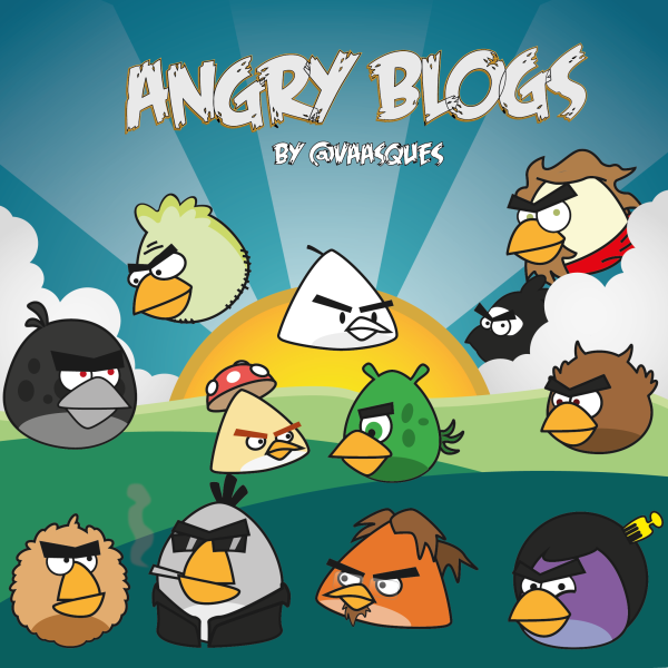 Blogs na versão Angry Birds por @vaasques