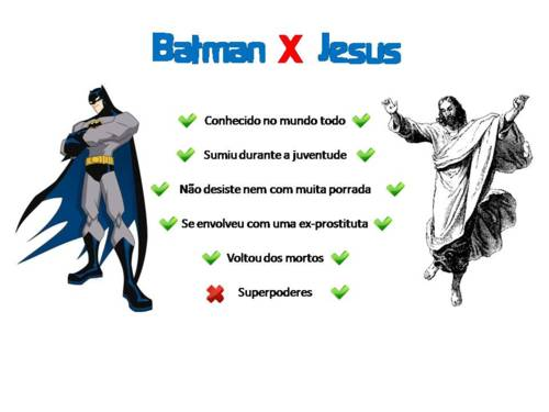 Batman vs Jesus