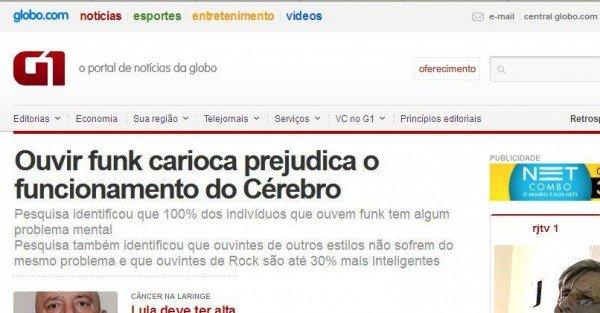 Ouvir funk carioca prejudica o funcionamento do cérebro