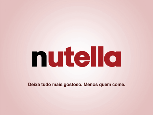 Slogans Sinceros - nutella