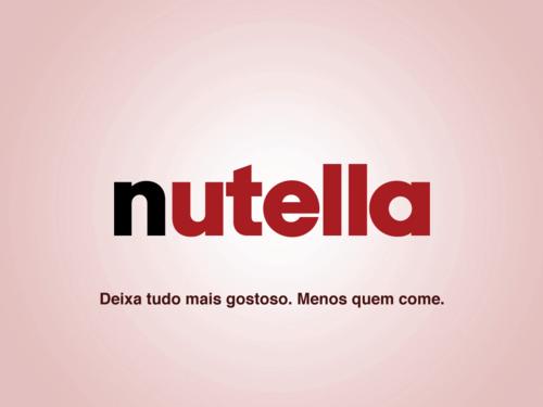 Slogans Sinceros - nutella