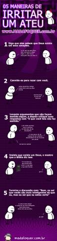 5 maneiras de irritar um ateu