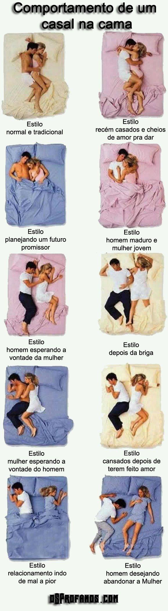 Comportamento de um casal na cama