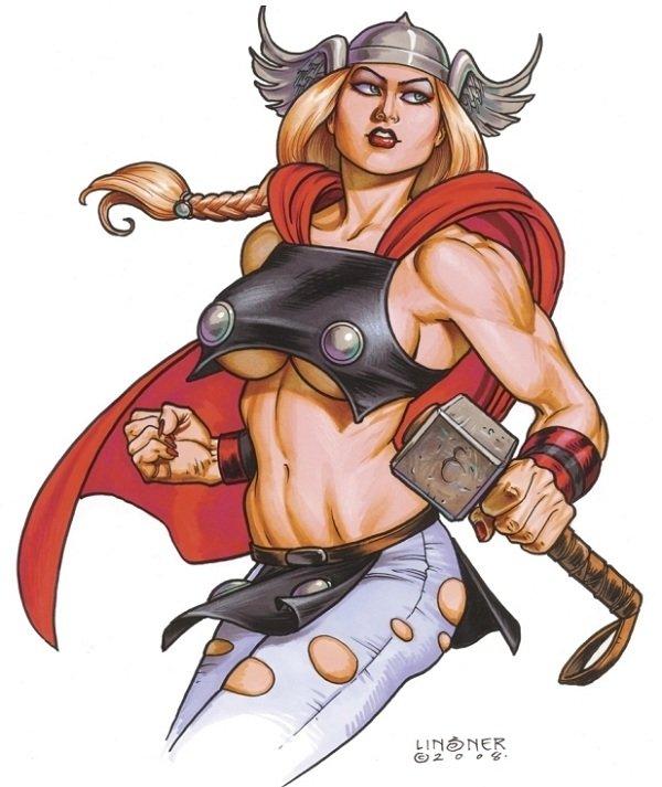 Versão feminina de personagens - Female Thor