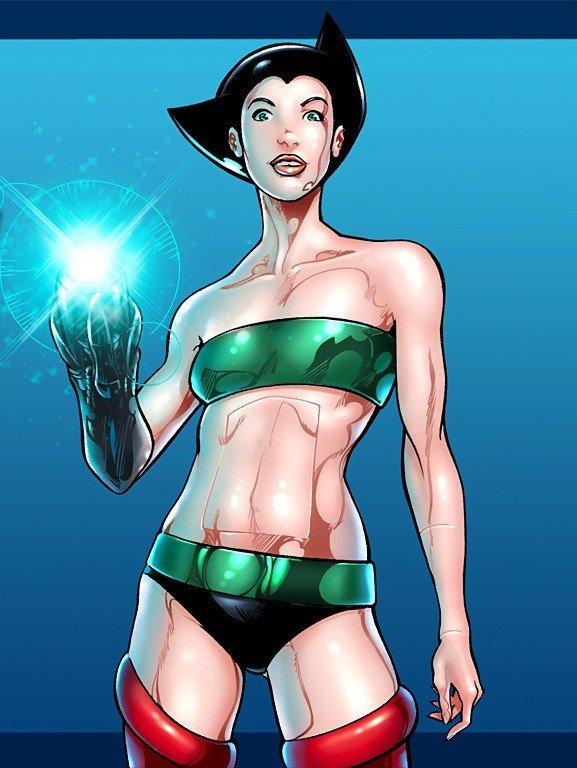 Versão feminina de personagens  - female astroboy