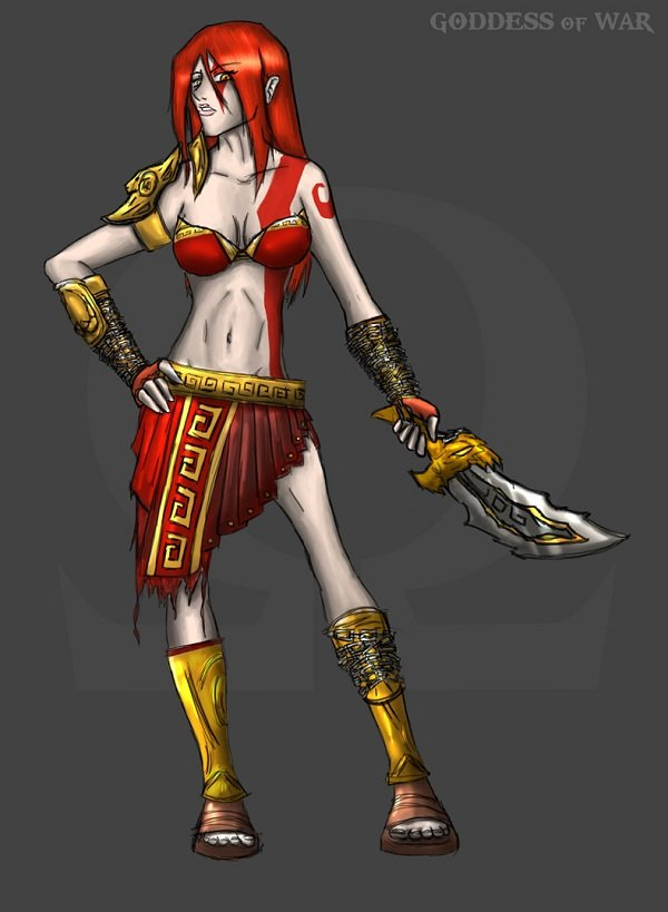 Versão feminina de personagens - female god of war
