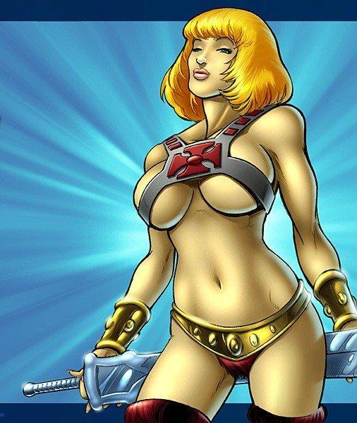 Versão feminina de personagens - female heman