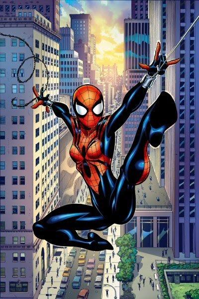 Versão feminina de personagens - female spider man
