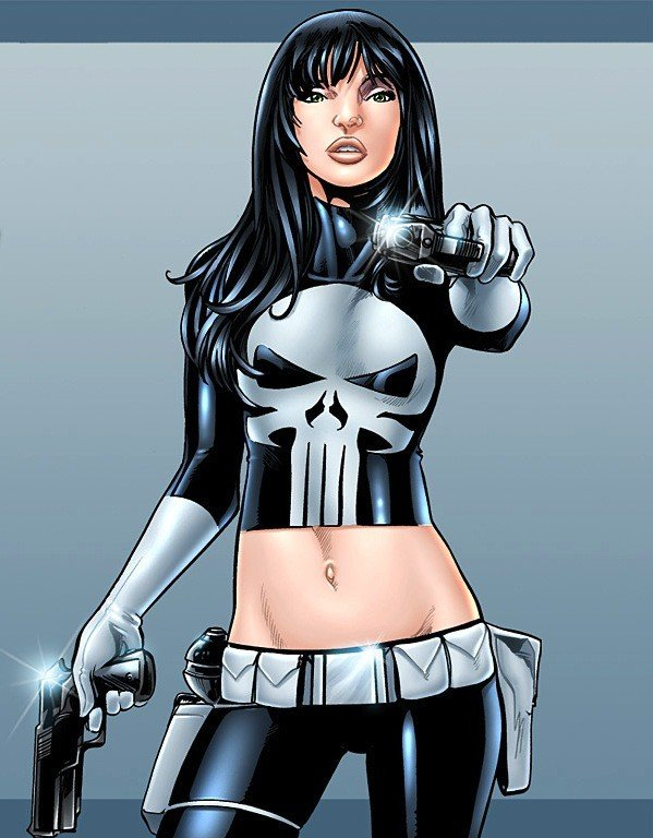 Versão feminina de personagens - female the Punisher