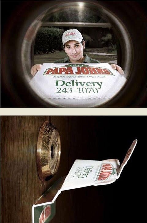 Foi daqui que pediram uma pizza?
