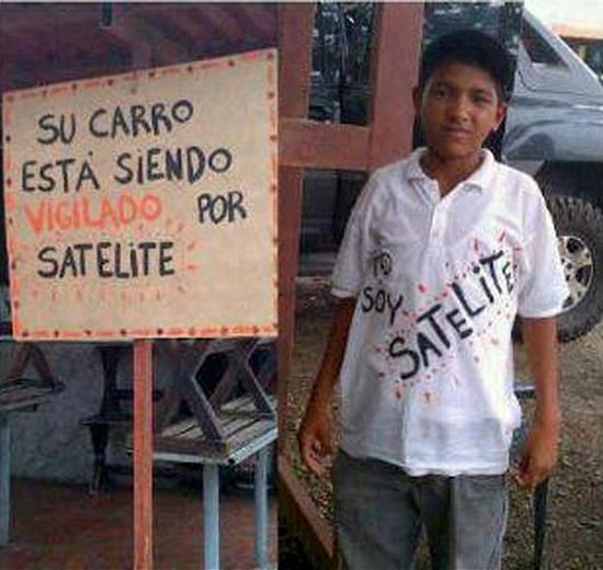 Carro vigiado por satélite...