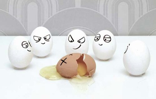 Desenho em ovos