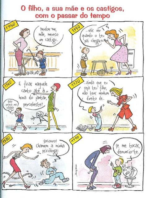 O filho, a sua mãe e os castigos com o passar do tempo