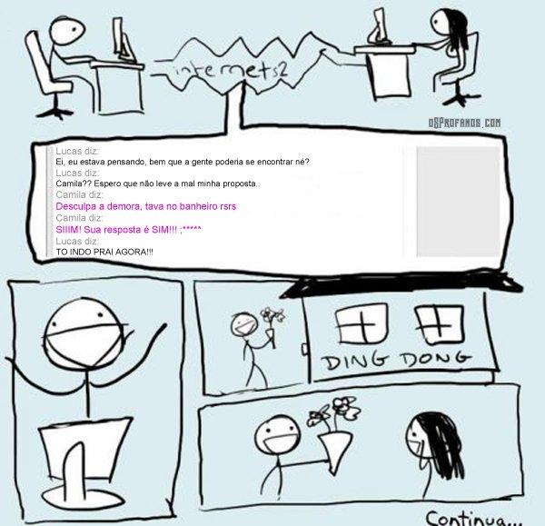 Como é a vida na internet