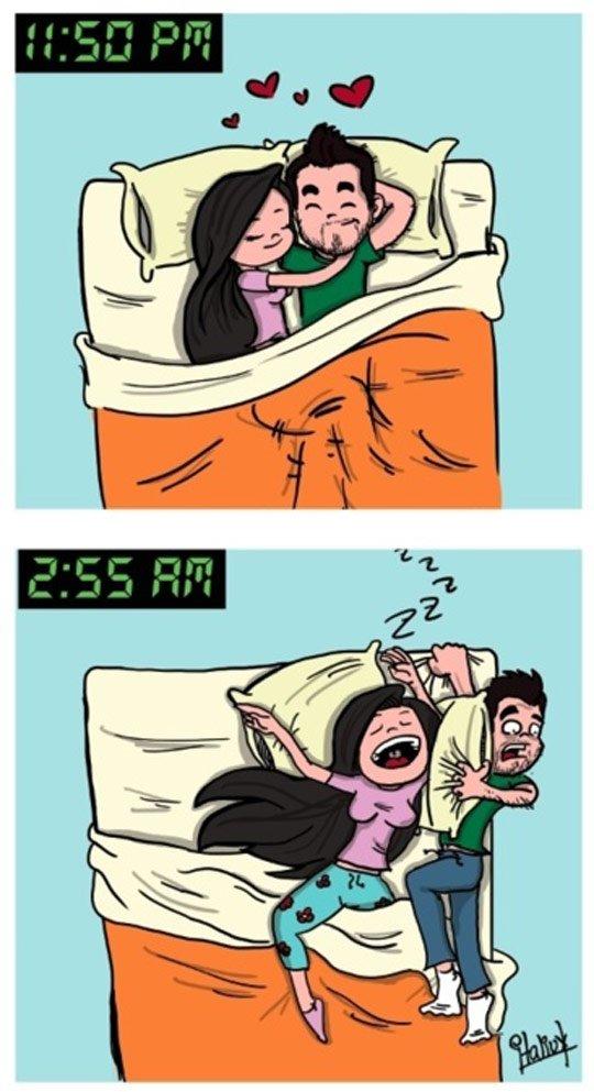 Dormindo com a namorada