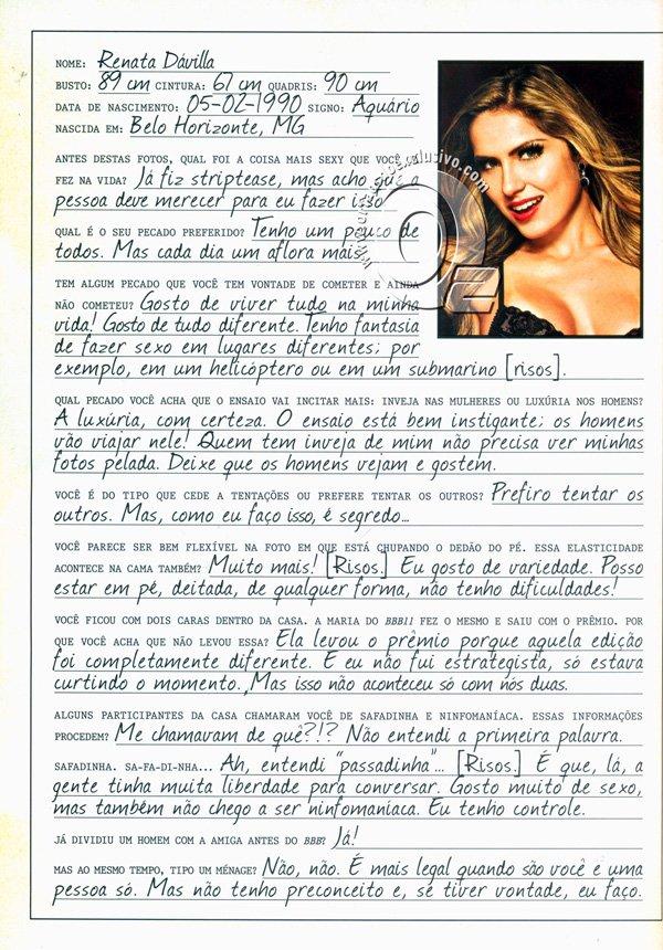 Fotos da Playboy de Maio 2012 Renata BBB12