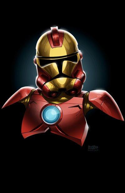 E se o uniforme dos super heróis fosse no estilo Stormtroopers?