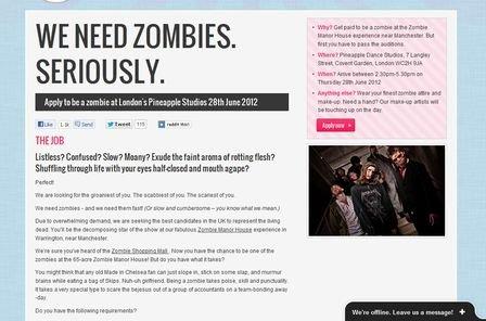 we need zombies
