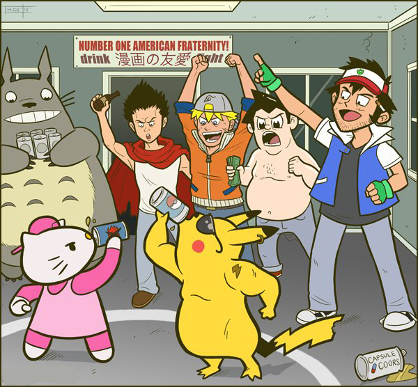 Os personagens de desenhos na faculdade