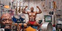 Fazendo musica com os musculos Terry Crews