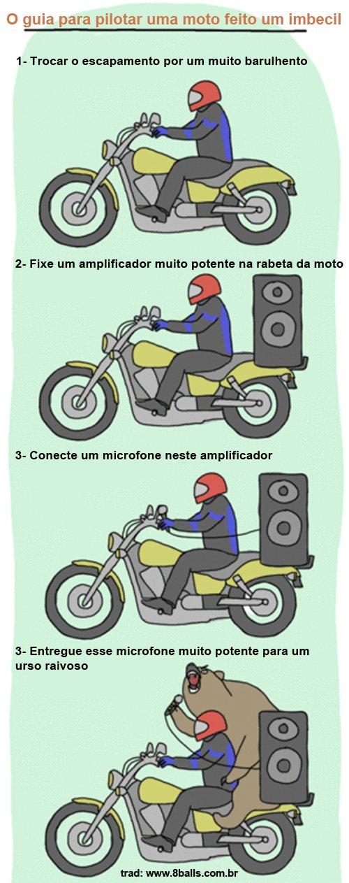 Guia para pilotar uma moto feito um imbecil