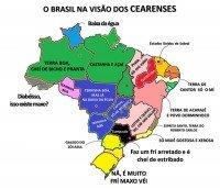 mapa do brasil na visao dos cearenses