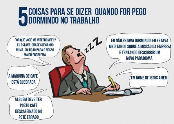 5 coisas para se dizer quando for pego dormindo no trabalho