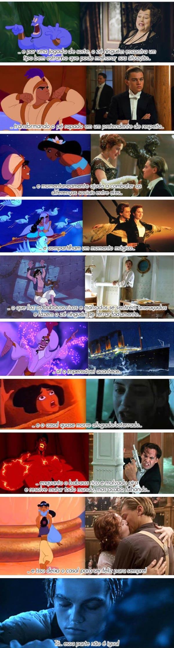 Alladin e Titanic são a mesma história