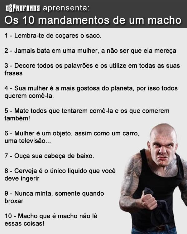 Os 10 mandamentos de um macho
