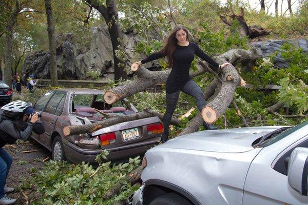 Nana Gouvêa em desastres