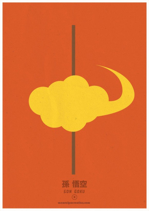 Dragon Ball minimalista