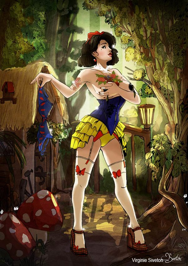 disney pin-up