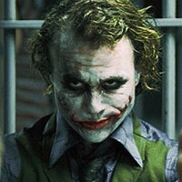 "Handout publicity photo shows actor Heath Ledger starring as the Joker in the movie ""The Dark Knight"""