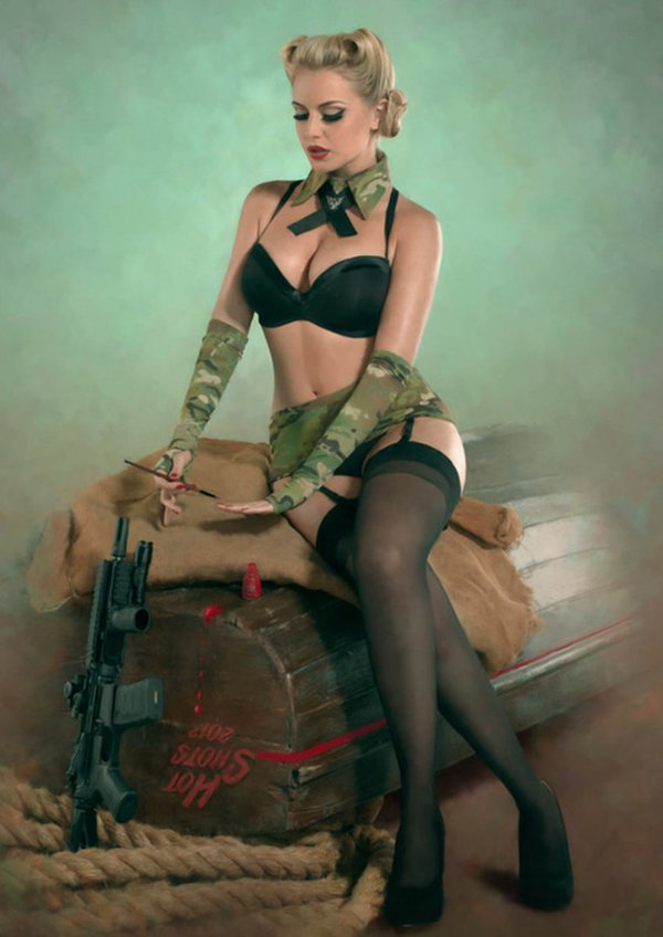 Pin up's no exercito