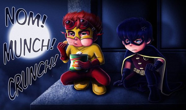 Heróis e vilões em versão Chibi